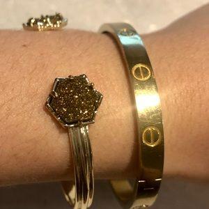 Kendra Scott NEW Arden Bronze Drusy Cuff Bracelet